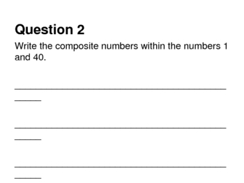 Prime Numbers and Factoring Review Game