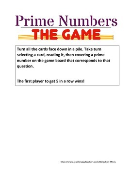 Prime Numbers and Multiple Game Center