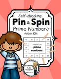 Prime Numbers (within 100) - Self-Checking Math Centers