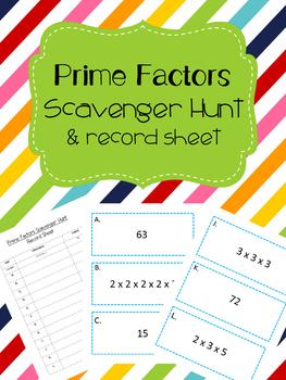 Prime Factors Scavenger Hunt