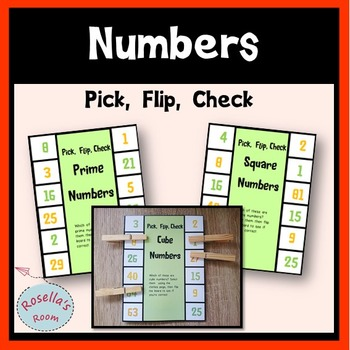 Prime, Square & Cube Numbers  Pick Flip Check
