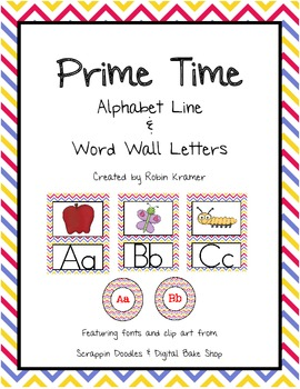 Prime Time Alphabet Line and Word Wall Set