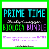 Biology Daily Bell Ringers or Exit Slips - FULL YEAR BUNDLE