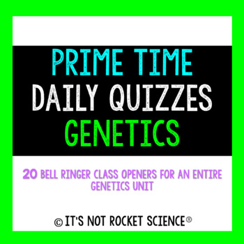 Biology Daily Bell Ringers/Exit Slips - Genetics