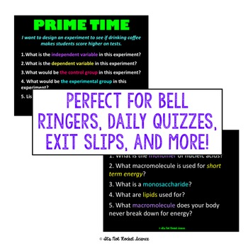Physical Science Daily Bell Ringers/Exit Slips - Scientific Method