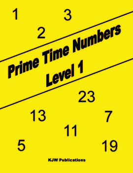 Prime Time Numbers - Level 1  - Digital Download - 1st  Grade Math Workbook