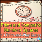 Prime and Composite Numbers Games Pack {4.OA.4} SQUARES