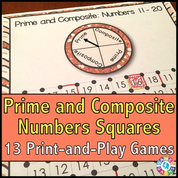 Prime and Composite: 13 Prime Numbers and Composite Numbers Games
