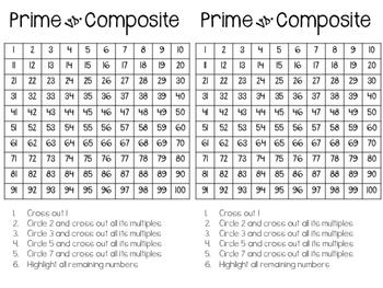 Prime and Composite 4.OA.4, 6.NS.4