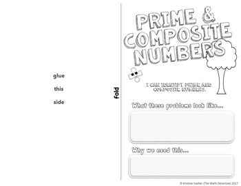 Prime and Composite - Doodle Notes Brochure for Interactive Notebooks