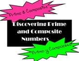 Prime and Composite Explorations/ Explorar Numeros Primos y Compuestos