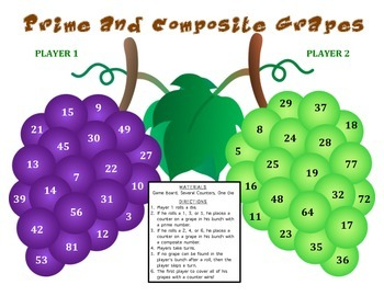 Prime and Composite Grapes - A Game to Identify Prime and Composite Numbers