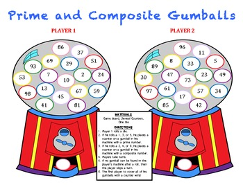 Prime and Composite Gumballs - A Game to Identify Prime and Composite Numbers