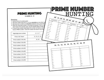 Prime and Composite Hunting 1-99 (4.OA.4)