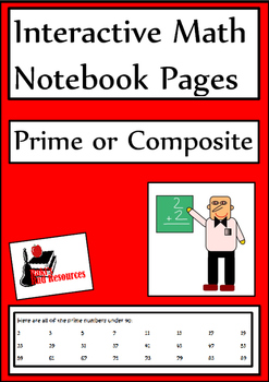 Prime and Composite Lesson for Interactive Math Notebooks