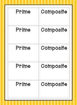Prime and Composite Matching Activity