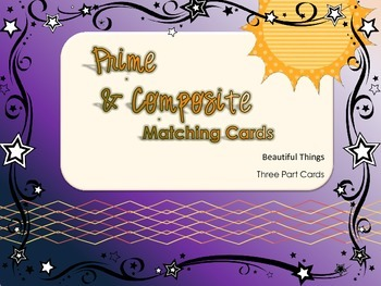 Prime and Composite Matching Game with Term, Definition and Examples
