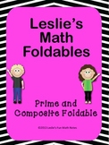 Prime and Composite Math Foldable