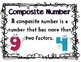 Prime and Composite Number Activities - Common Core Linked