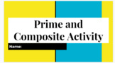 Prime and Composite Number Activity