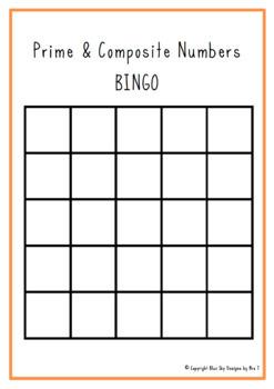 Prime and Composite Number Bingo
