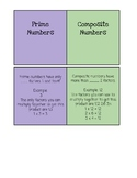 Prime and Composite Number Foldable