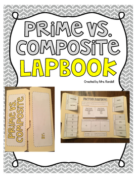 Prime and Composite Number Lapbooks (Multiples, Factors, and Factor Rainbows)