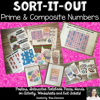 Prime and Composite Number Sort- flowers