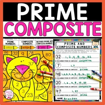 prime and composite numbers coloring teaching resources teachers