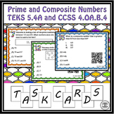 Prime Numbers and Composite Numbers Task Cards