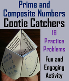 Prime and Composite Numbers Practice Activity/ Quiz 4th 5th 6th Grade