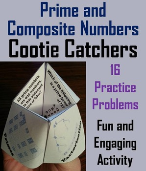Prime and Composite Numbers Practice Activity/ Quiz 4th 5t