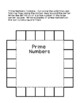 Prime and Composite Numbers Activity, Foldables, Printable Math, Supplementary