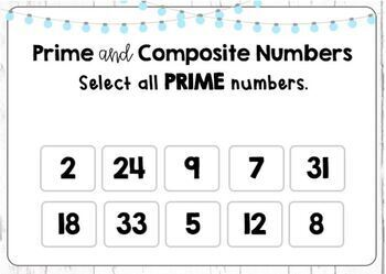 Prime and Composite Numbers Boom Cards