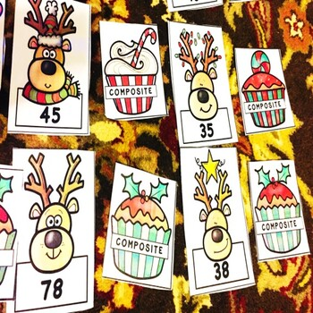 Prime and Composite Numbers Christmas Game