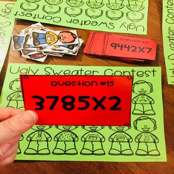 Prime and Composite Numbers Christmas Fourth Grade Math Center