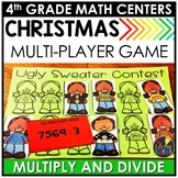 Multiply and Divide Large Numbers Christmas Game
