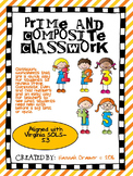 Prime and Composite Numbers Classwork