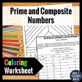 Prime and Composite Numbers Color By Number  4.OA.4