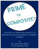 Prime and Composite Numbers, Factors, and Prime Factorizat