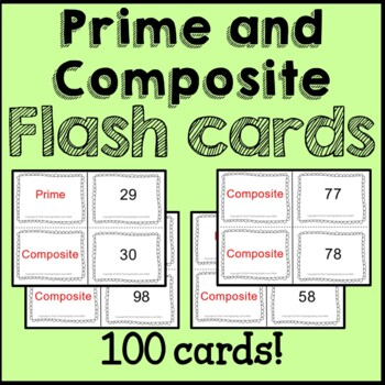 Prime and Composite Numbers Flash Cards, Posters, Worksheets Common Core