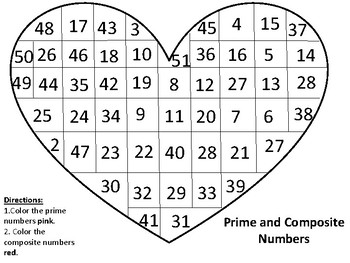 Prime and Composite Numbers Heart