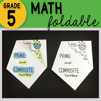 Math Doodle - Prime and Composite Numbers ~ Foldable Notes ~