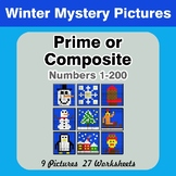 Prime and Composite Numbers - Math Mystery Pictures - Winter