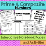 Prime and Composite Numbers Interactive Notebook