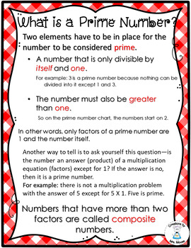 Prime & Composite Numbers - Polaroid Prime & Composite Numbers