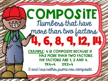 Prime and Composite Numbers Posters FREEBIE Farm Theme
