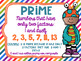 Prime and Composite Numbers Posters FREEBIE Friendly Monster Theme