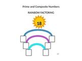 Prime and Composite Numbers Rainbow Factoring