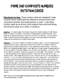 Prime and Composite Numbers - Rotation Cards (Activity)